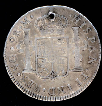 2 reales, Carlos IIII, 1792 ceca Nueva Guatemala [WM n° 8197] 1792_r11