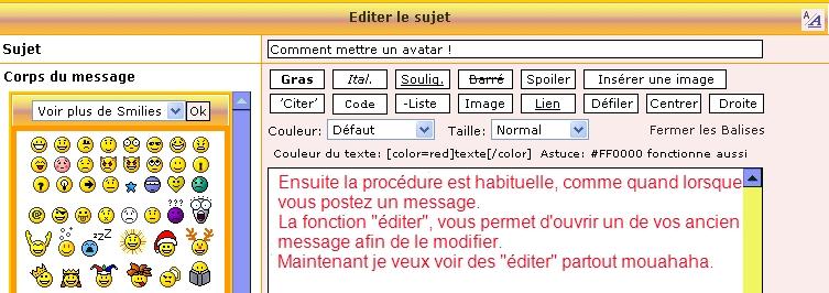 Se servir de la fonction [Editer] ! Editer14