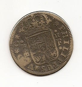 2 R. Falsos de epoca, de Carlos III (Madrid,1759 - 1764 d.C) Escan168
