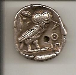Dracma griego (r: lechuza) Escane51