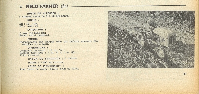 les TRACTEURS AGRICOLES à moteur 203 - Page 2 Field_22