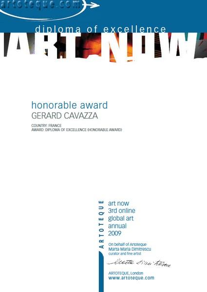 Honorable award - Gérard Cavazza Art-no10