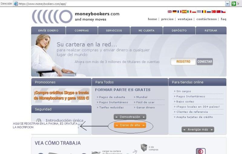 PASOS A SEGUIR PARA ENVIAR DINERO POR MONEYBOOKERS Home_d10