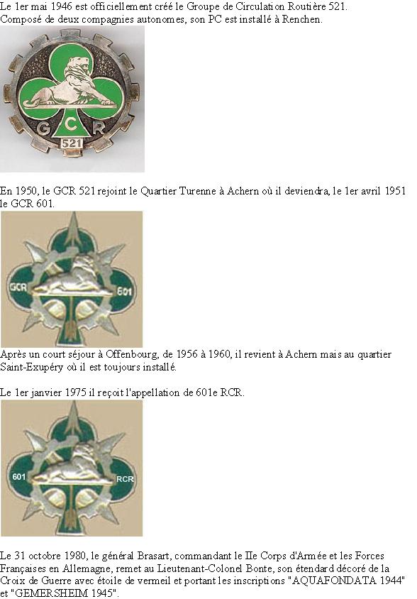 Histoire du GCR 601 en images et insignes Histoi10