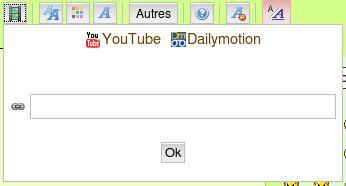Insérer une vidéo ou du html Video110