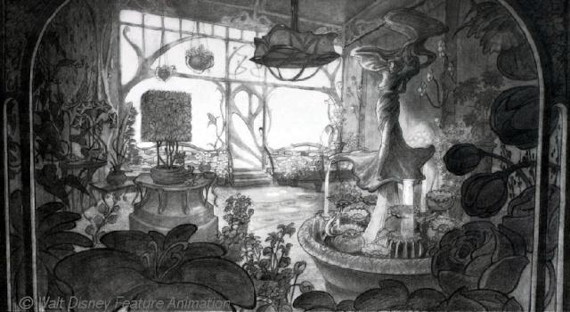 Rapprochement Walt Disney / Arts Déco 1925 Flower10
