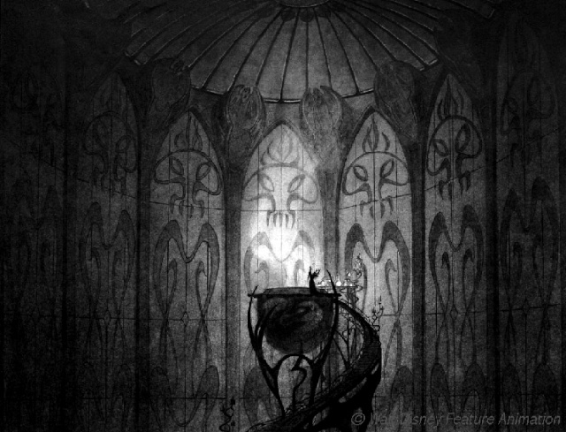 Rapprochement Walt Disney / Arts Déco 1925 Witch11