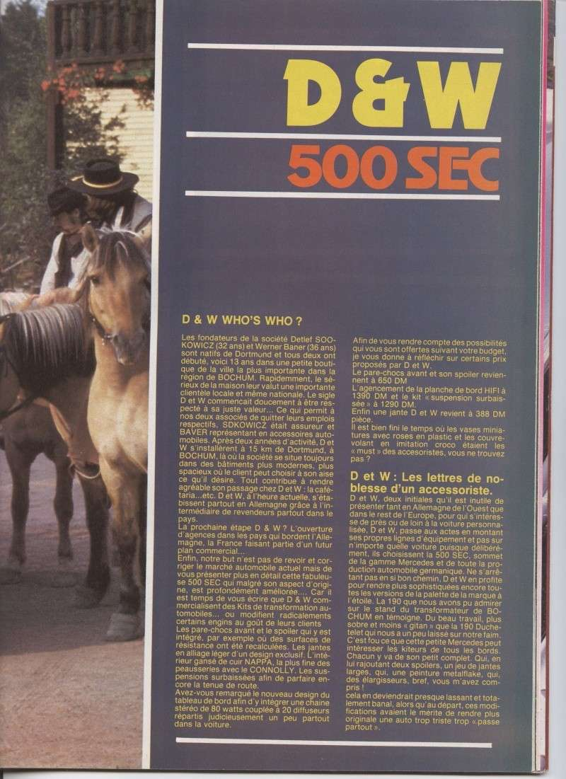 (C126): Modelo especial D&W da 500SEC Image10