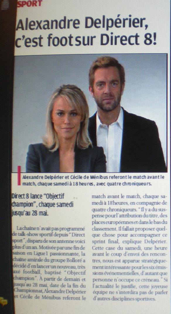 CHAINES DE  FOOT A LA TELE  : CFOOT/ C+ TF1 M6 ET LES AUTRES  - Page 2 Imgp6336