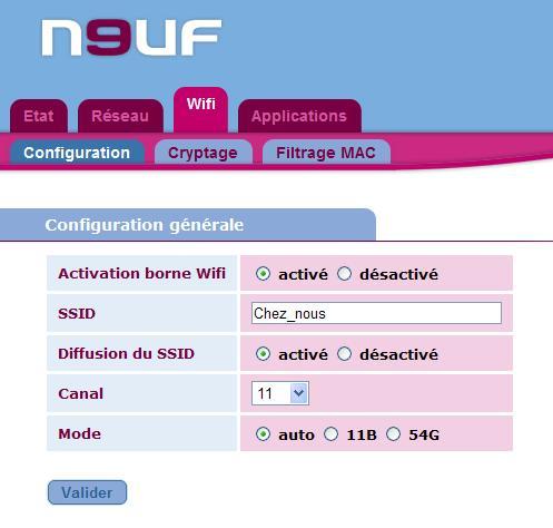 NeufBox en WPA-PSK et Nabaztag / tag Conbfi10