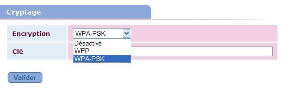 NeufBox en WPA-PSK et Nabaztag / tag Crypta10