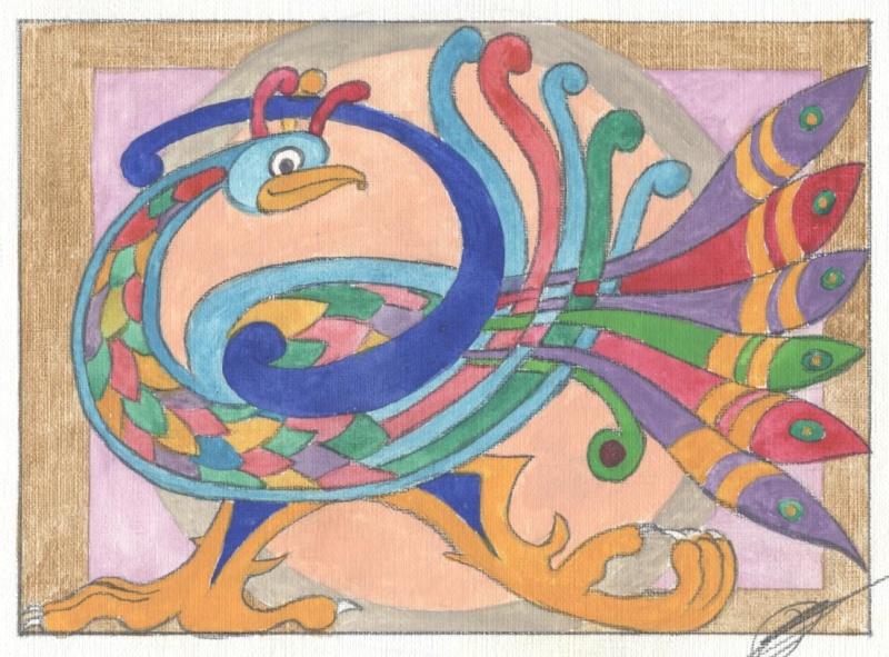 J'aime les entrelacs et autres dessins celtiques - Page 14 Oiseau11
