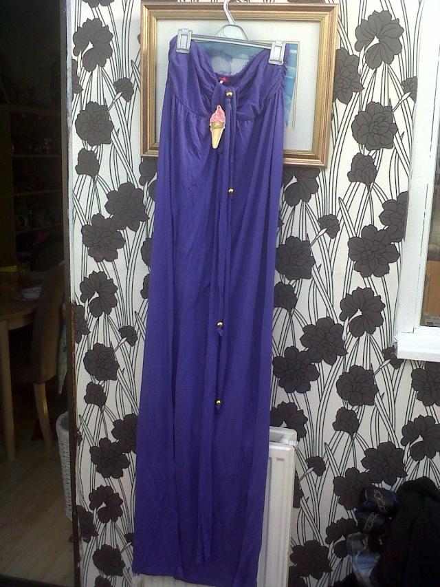 River Island Purple Maxi Dress Large about 14. Ebay_036