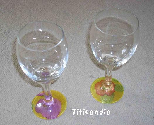 vidrio - Decoupage en Vidrio (Copas) Cop10