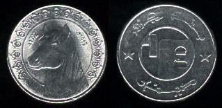 Les pièces de monnaie de l'Algérie indépendante 1-2d_910