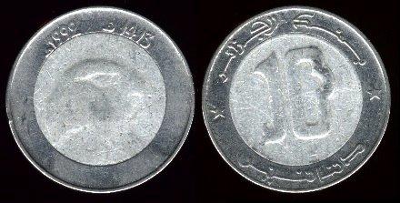 Les pièces de monnaie de l'Algérie indépendante 10d_9210