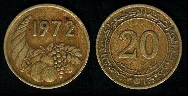 Les pièces de monnaie de l'Algérie indépendante 20c_7210