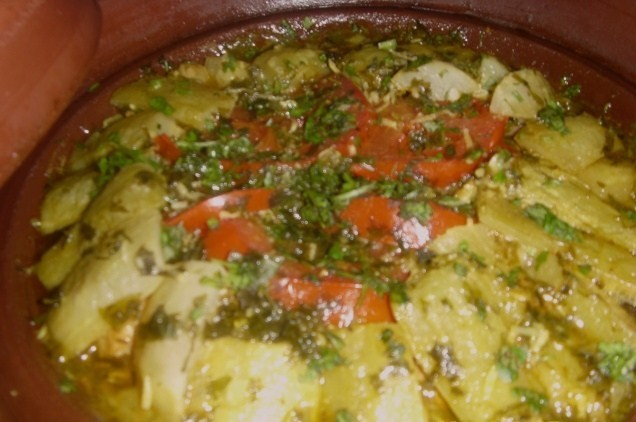 Le Vrai Tajine Marocain au Courge Slaoui ou Slawi (Lauki or Doodhi or White gourd Moroccan Tajine) Varies11