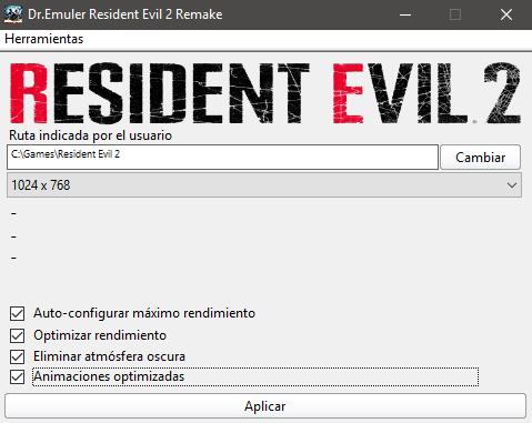Parche de velocidad Resident Evil 2 Remake v2 Sps10