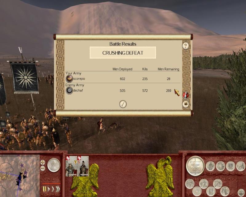 TORNOOI 2 : ROME TOTAL WAR. (UITSLAGEN EN STANDEN) Rometw10