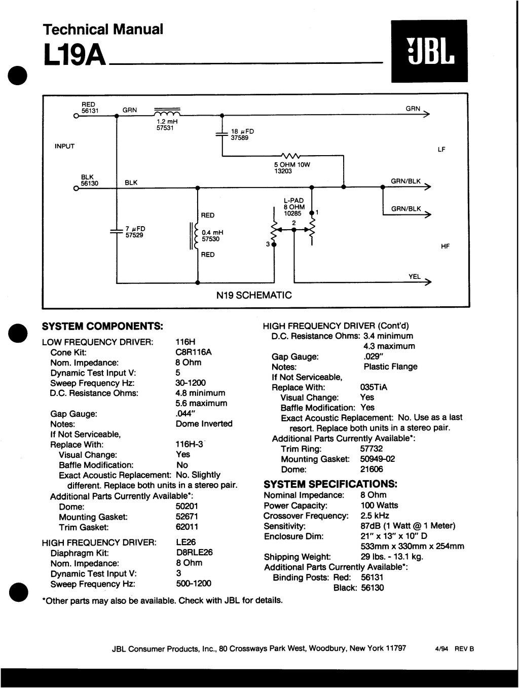 Modèle L19  version évoluée de la L16 L19a10