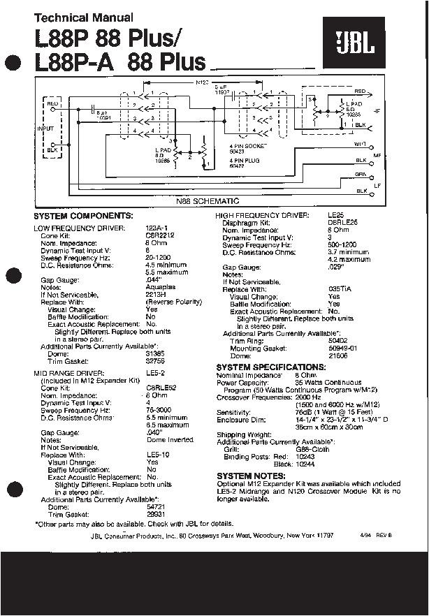JBL L88P ou 88 PLUS L88_pl10
