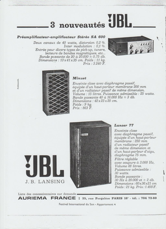Docs diverses JBL Numzo252