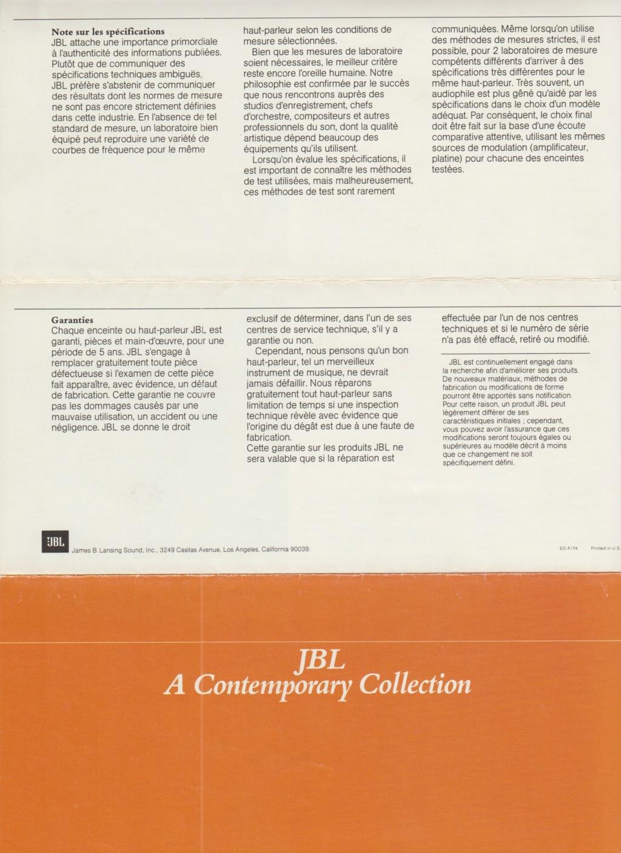 Docs diverses JBL Numzo260