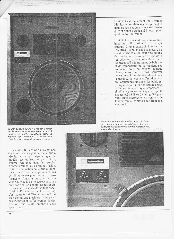 4333 STUDIO MONITOR Numzo335