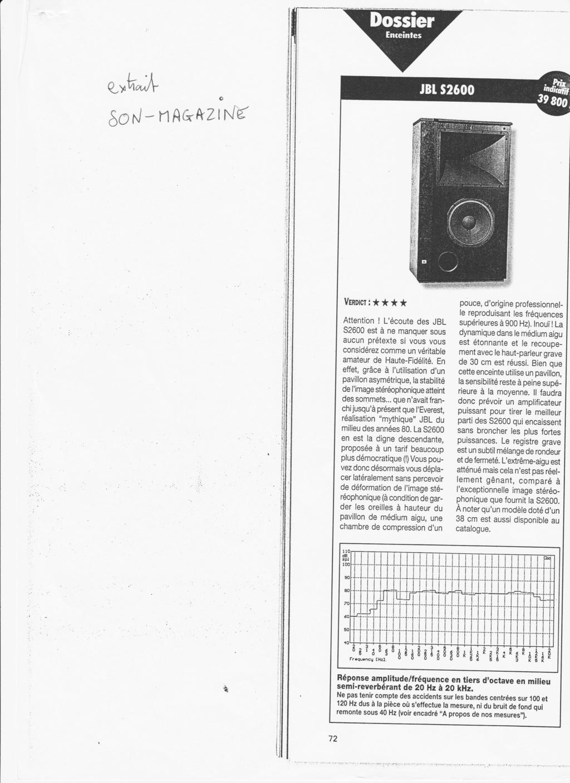 Serie S2600 et S3100 Numzo420