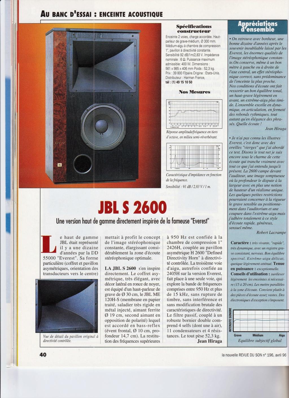 Serie S2600 et S3100 Numzo422