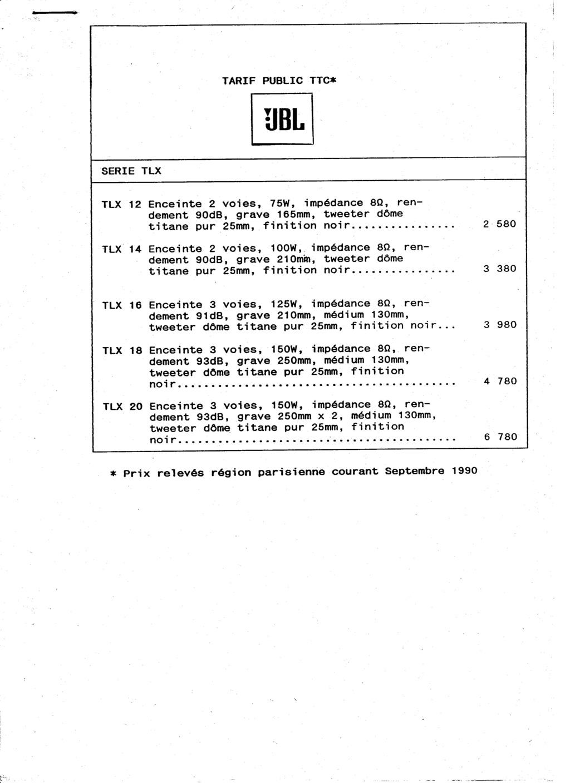 Tarif neuf du vintage pour donner une idée (gamme HIFI et pro de la fin des années 70 au début des années 2000) Numzo511