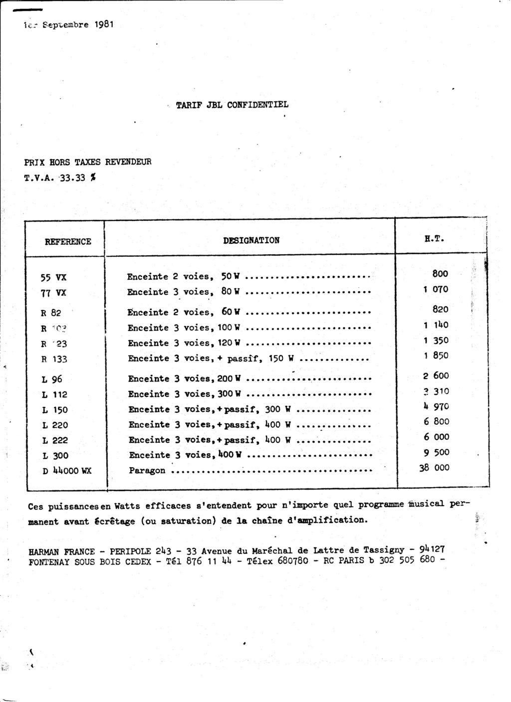 Tarif neuf du vintage pour donner une idée (gamme HIFI et pro de la fin des années 70 au début des années 2000) Numzo518