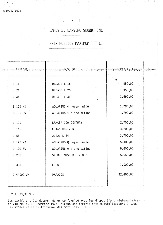 Tarif neuf du vintage pour donner une idée (gamme HIFI et pro de la fin des années 70 au début des années 2000) Numzo524