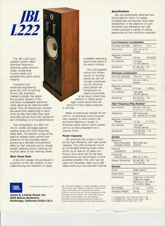 Modèle L222 Année 1980 Numzo540