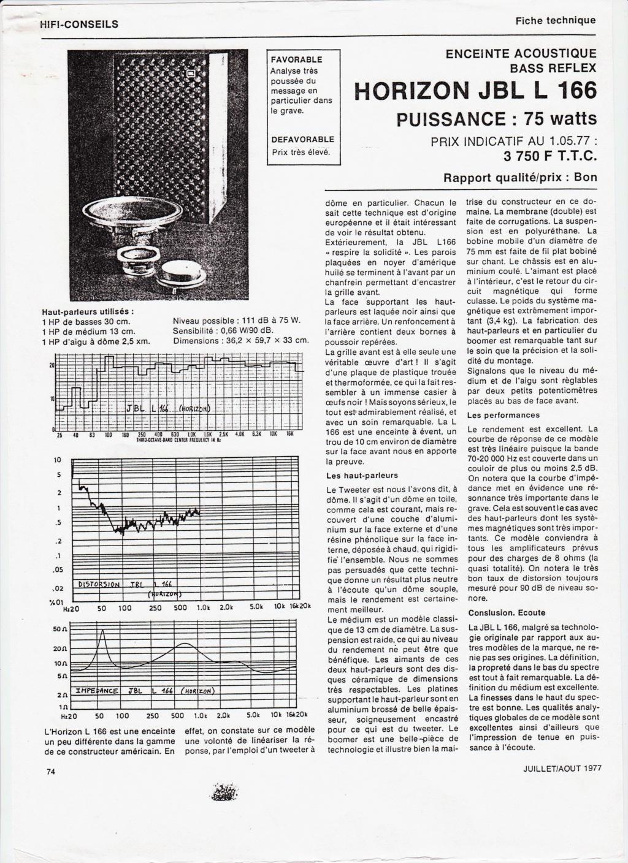 Modèle L166 HORIZON Année 1976/77 Numzo572
