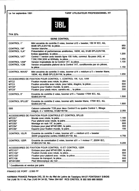 Tarif neuf du vintage pour donner une idée (gamme HIFI et pro de la fin des années 70 au début des années 2000) Numzo693