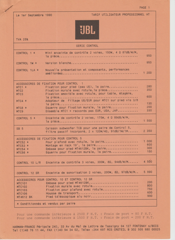 Tarif neuf du vintage pour donner une idée (gamme HIFI et pro de la fin des années 70 au début des années 2000) Numzo701