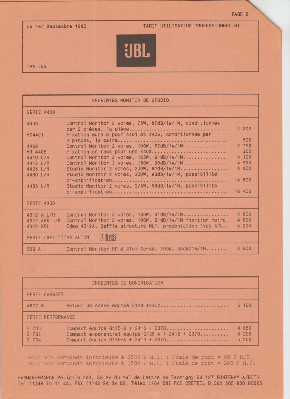 Tarif neuf du vintage pour donner une idée (gamme HIFI et pro de la fin des années 70 au début des années 2000) Numzo702