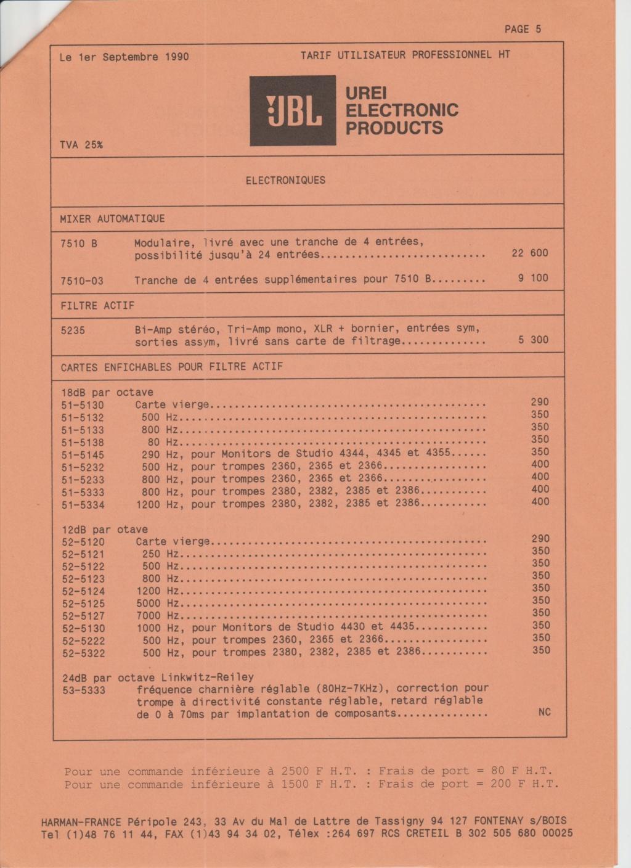 Tarif neuf du vintage pour donner une idée (gamme HIFI et pro de la fin des années 70 au début des années 2000) Numzo704