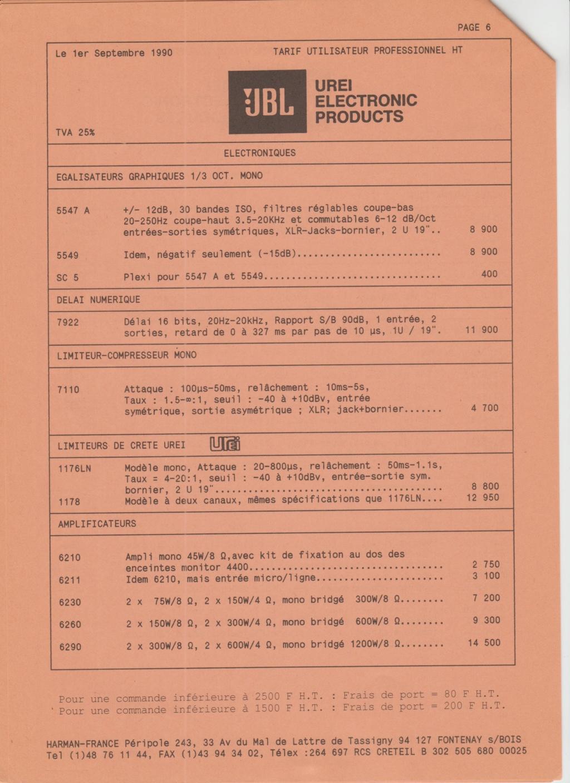 Tarif neuf du vintage pour donner une idée (gamme HIFI et pro de la fin des années 70 au début des années 2000) Numzo705