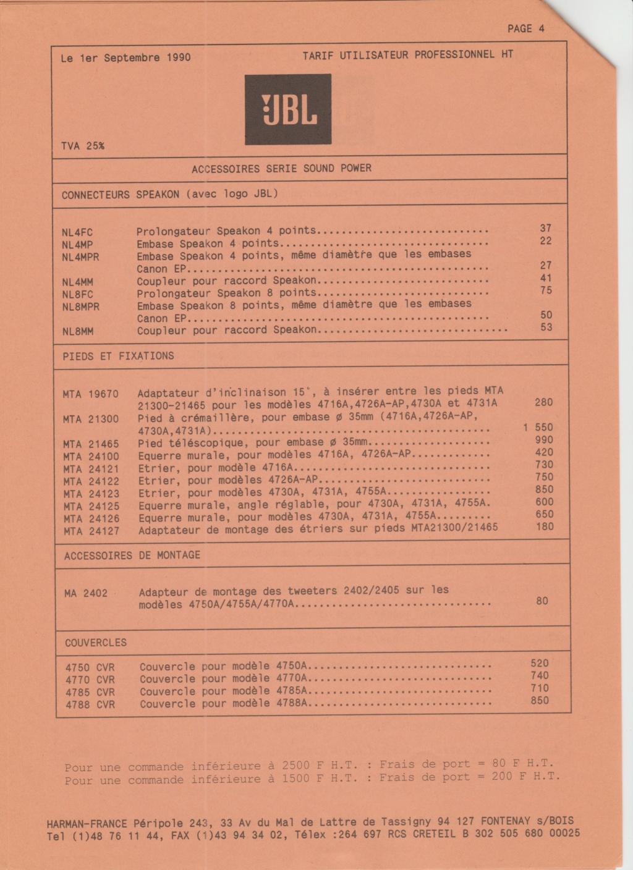 Tarif neuf du vintage pour donner une idée (gamme HIFI et pro de la fin des années 70 au début des années 2000) Numzo706
