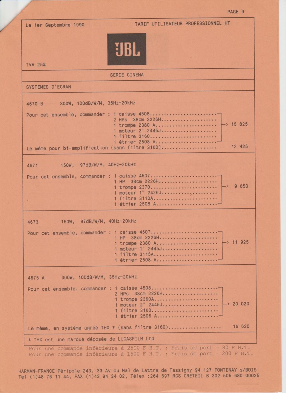 Tarif neuf du vintage pour donner une idée (gamme HIFI et pro de la fin des années 70 au début des années 2000) Numzo707