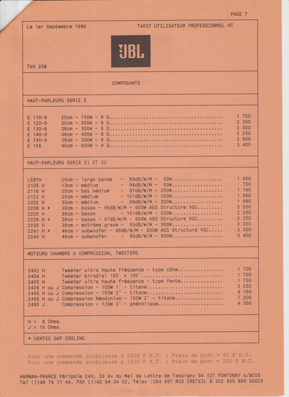 Tarif neuf du vintage pour donner une idée (gamme HIFI et pro de la fin des années 70 au début des années 2000) Numzo708