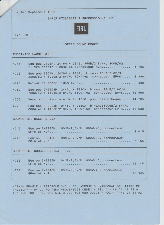 Tarif neuf du vintage pour donner une idée (gamme HIFI et pro de la fin des années 70 au début des années 2000) Numzo711