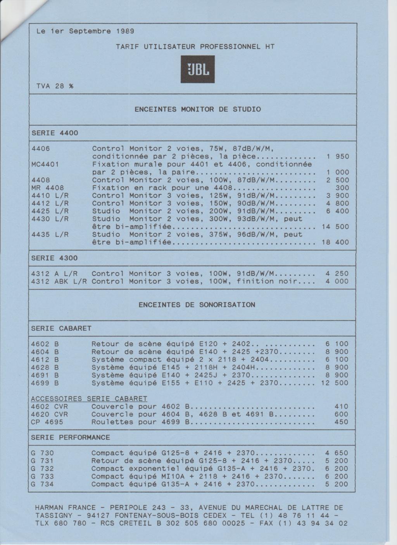 Tarif neuf du vintage pour donner une idée (gamme HIFI et pro de la fin des années 70 au début des années 2000) Numzo713