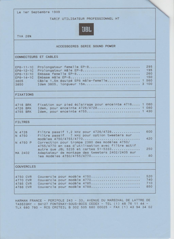 Tarif neuf du vintage pour donner une idée (gamme HIFI et pro de la fin des années 70 au début des années 2000) Numzo715