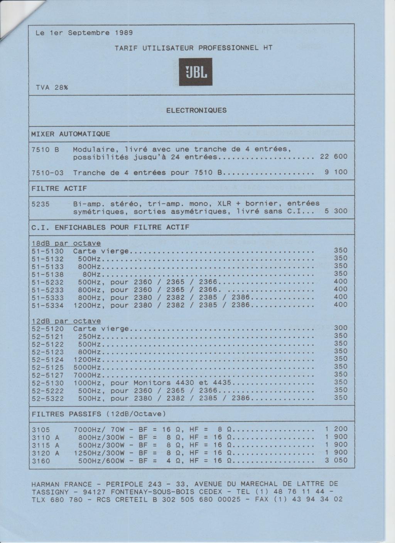 Tarif neuf du vintage pour donner une idée (gamme HIFI et pro de la fin des années 70 au début des années 2000) Numzo716