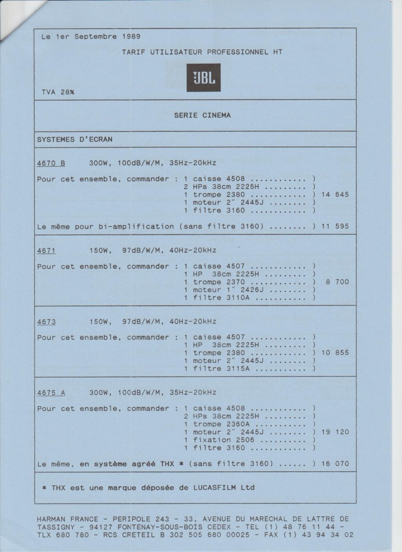 Tarif neuf du vintage pour donner une idée (gamme HIFI et pro de la fin des années 70 au début des années 2000) Numzo717