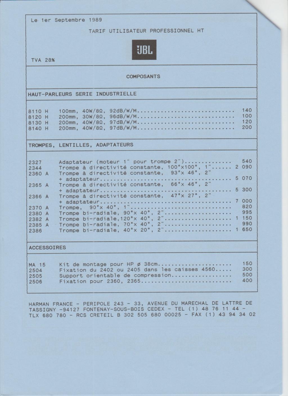 Tarif neuf du vintage pour donner une idée (gamme HIFI et pro de la fin des années 70 au début des années 2000) Numzo718